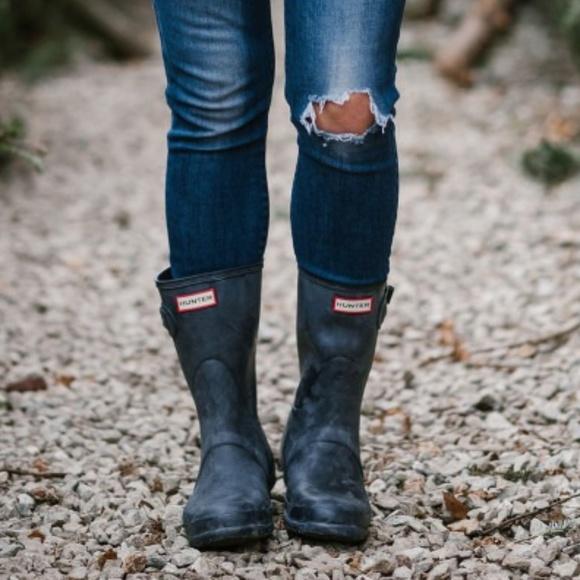 ec33984b8 Hunter Shoes - Hunter Original Short Rain Boots - Matte Navy